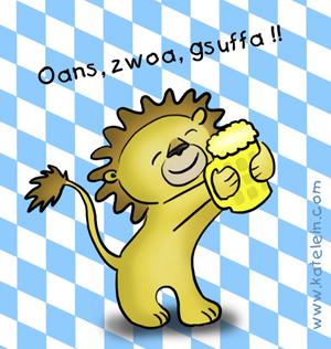 Löwenbräu Löwe mag Bier