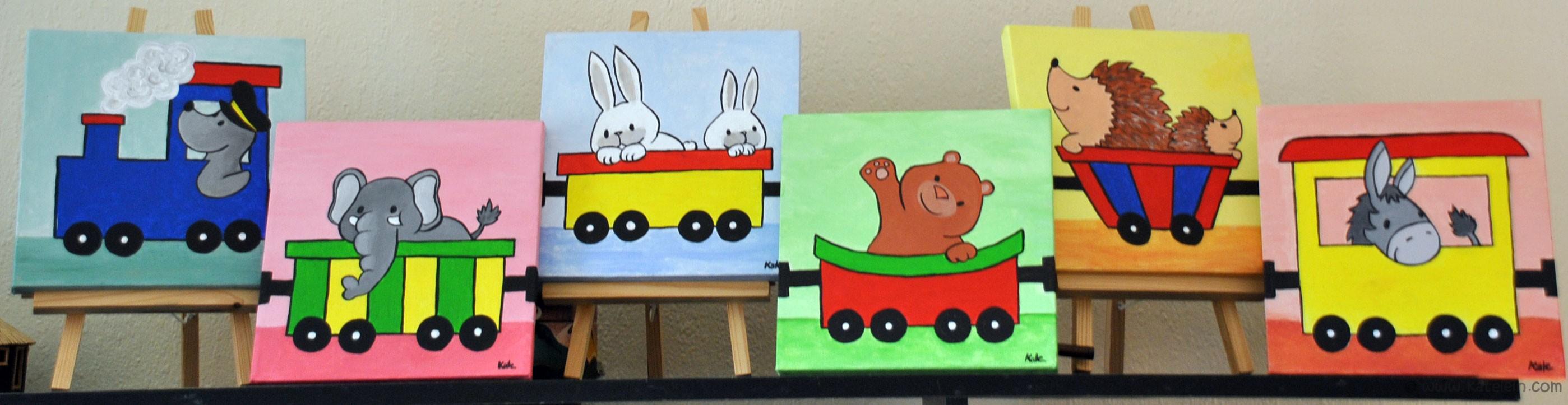 Lustiger Tiertransport - tolle Bilder auf Keilrahmen fürs ...