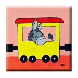 Lustiger Tiertransport – tolle Bilder auf Keilrahmen fürs Kinderzimmer