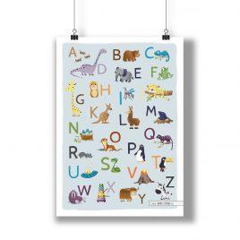 ABC Poster – Tierisches Alphabet – A3