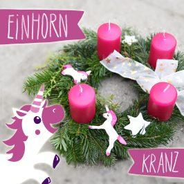 Adventskranz mal anders – Einhorn, Dino, Feuerwehr