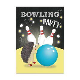 Bowling Einladungskarten Bowlingparty – Set zu 10 Stück