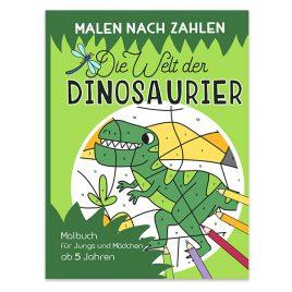 Malen nach Zahlen – Die Welt der Dinosaurier: Malen, lesen und lernen