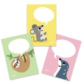 Lustige Tiere mit Sprechblasen