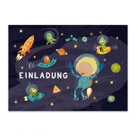 Weltraum Astronauten Party Einladung Set – 10 Stück –